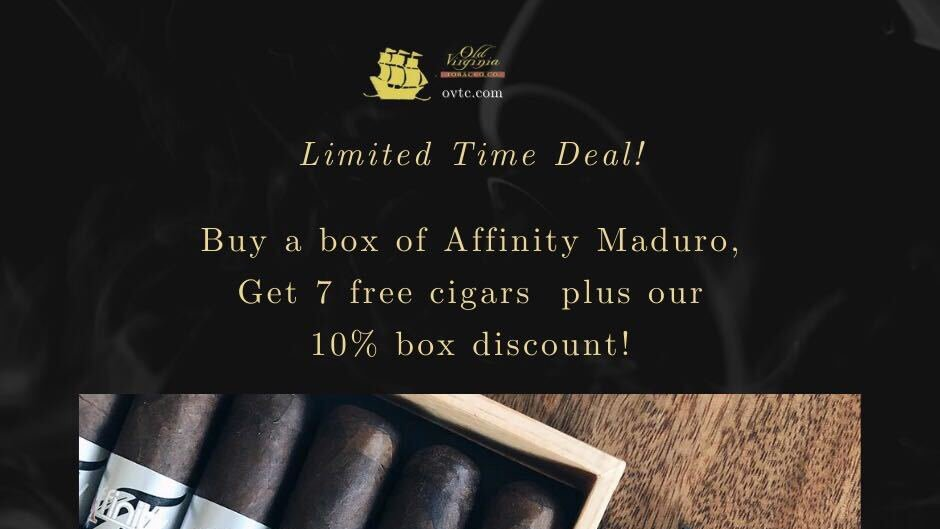 Limited: Affinity Maduro & Get 7 Cigars
