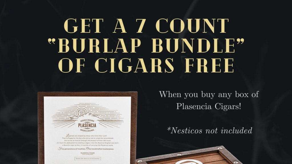 Get a 7 Count 'Burlap Bundle' of Cigars FREE