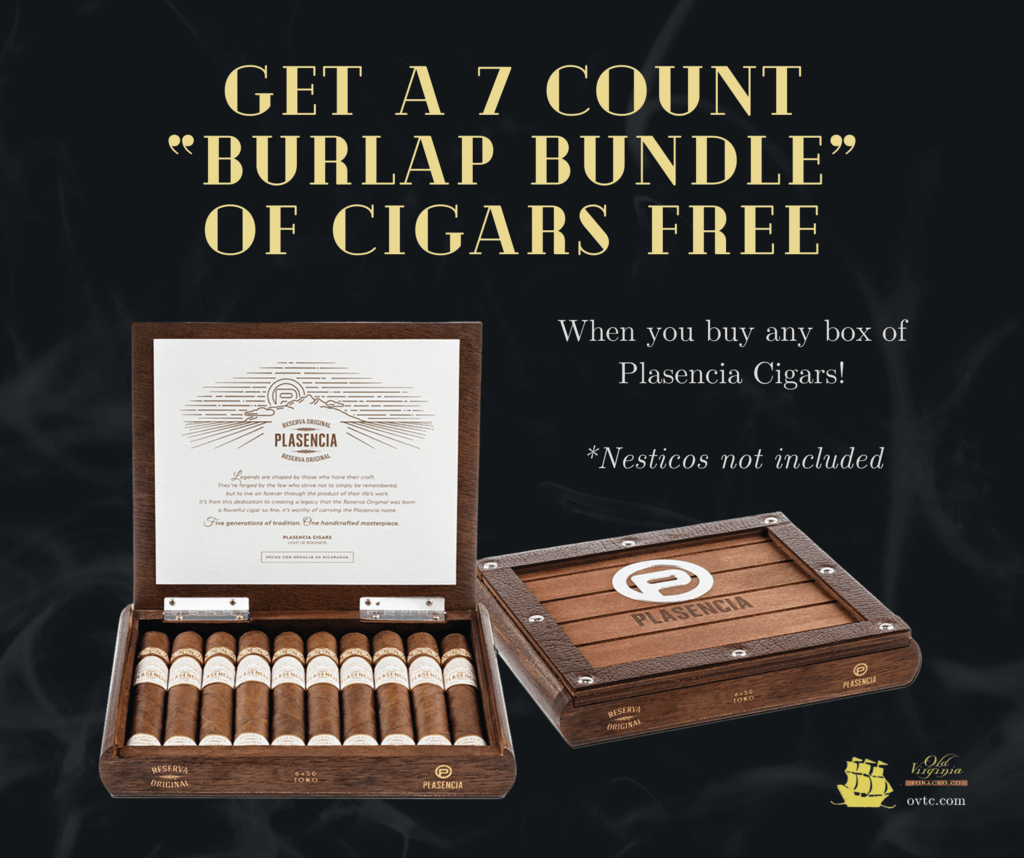 Get a 7 Count 'Burlap Bundle' of Cigars FREE