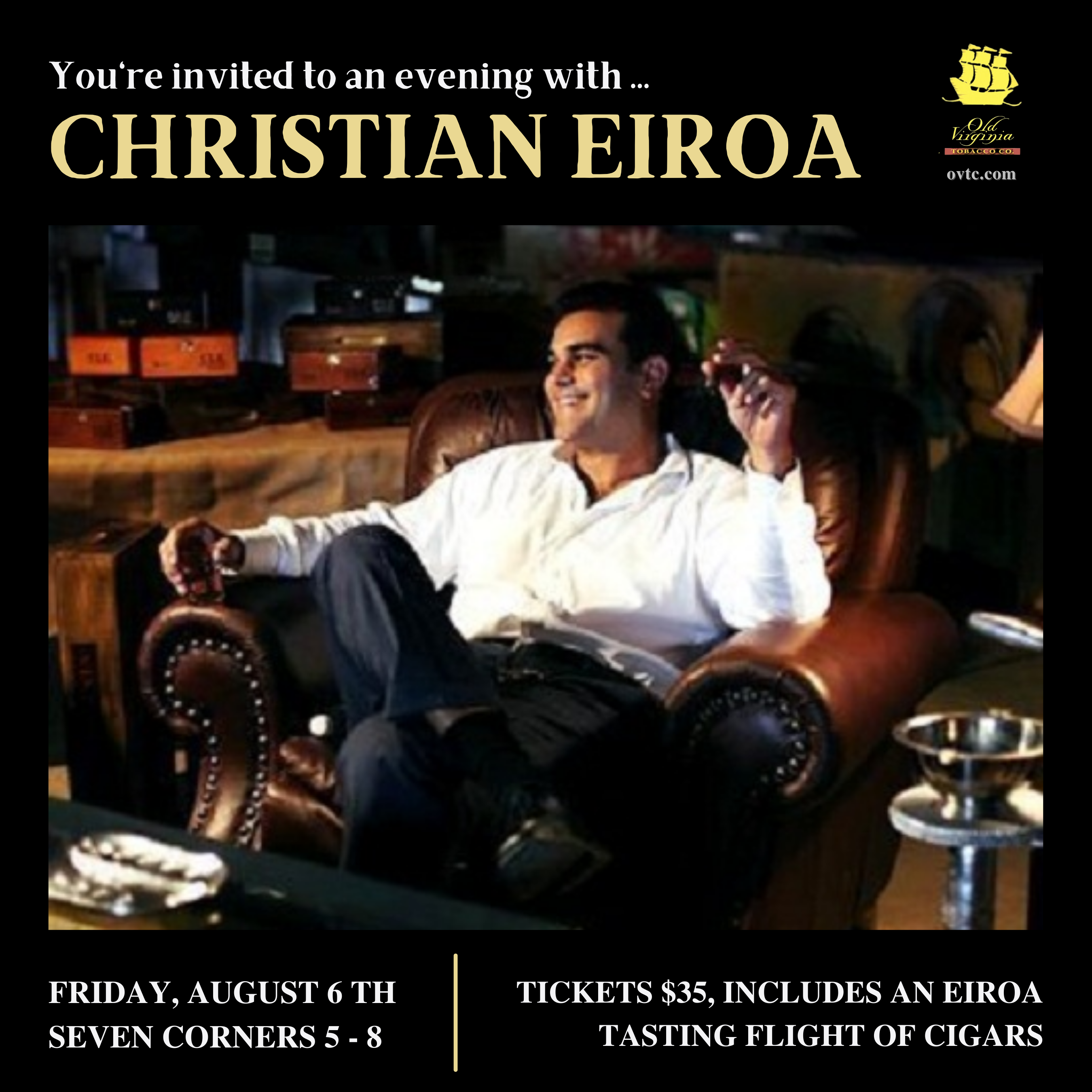 An Evening with Christian Eiroa in Seven Corners